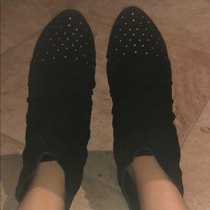 Suede flat booties